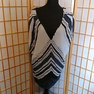 Ava & Viv Chevron Print Tunic Top Size 4X